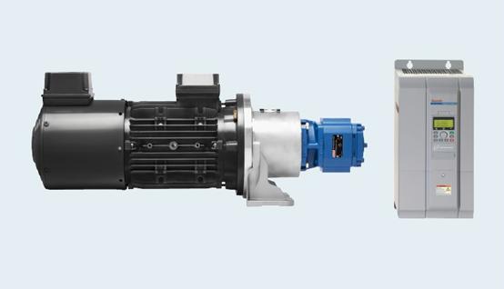 מערכת הידראולית משולבת ממיר תדר לשליטה על מהירות המנוע